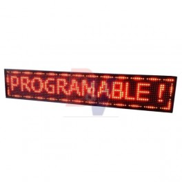 Cartel LED Videomax. Programable Rojo. P10-10020R.
